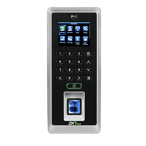 F21 is the first time attendance and access control terminal applying the most advanced SilkID technology. It not only possesses outstandingly high identification rate towards dry, wet and rough finger, but also provides the utmost security by its live finger detecting capability.as well as photo taking function which enables attendance photo and Photo ID(optional).