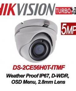 DS-2CE56H0T-ITMF5 MP Turret Camera