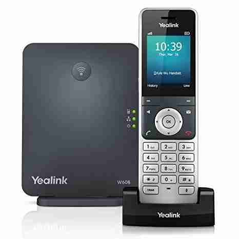 """High-performance SIP cordless phone system • 2.4"""" 240 x 320 color screen with intuitive user interface • Up to 8 concurrent calls • Up to 8 DECT cordless handsets • Up to 8 VoIP accounts • Support Opus audio codec • Up to 30-hour talk time • Up to 400-hour standby time • Quick charging: 10-min charge time for 2-hour talk time • TLS and SRTP security encryption • Noise Reduction System • Headset connection via 3.5 mm jack • Charger wall mountable"""