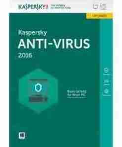 Kaspersky Antivirus 2016- 1PC + 1 Free