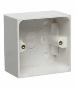 Single socket, white pattress box